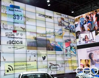 #FordNAIAS 2014 — Day 2 — Cobo Hall — North American International Auto Show — Scion — Electronic Screen Design