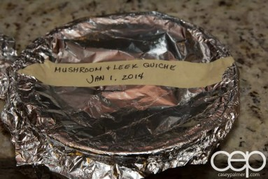 Friends' Food — Andrea — Mushroom & Leek Quiche