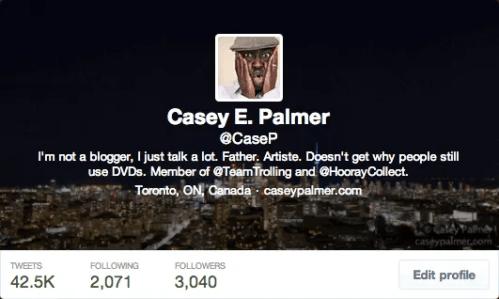#100HappyDays—Day 25—@CaseP Twitter Bio Screenshot