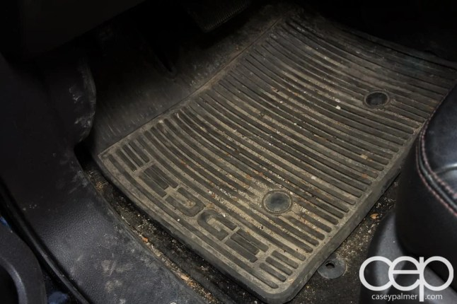 Armor All Spring Cleaning Post — 2011 Ford Edge — Dirty Floor Mat