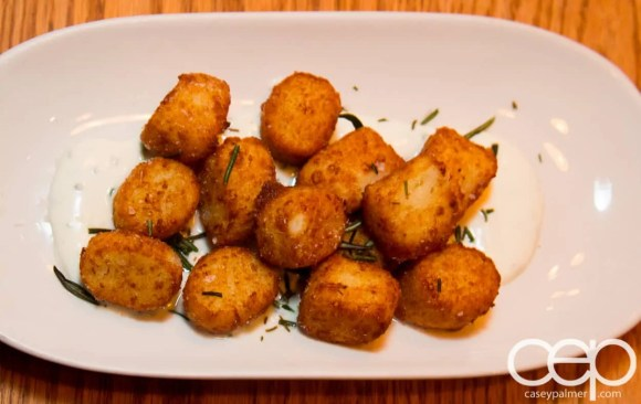 Team Trolling Does Pizzeria Libretto — Ricotta Gnocchi Fritti — house-made crema fresca, lemon, chives, rosemary