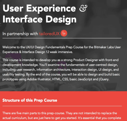 10 Links You Should Click — 4) Bitmaker Labs || User Experience & Interface Design