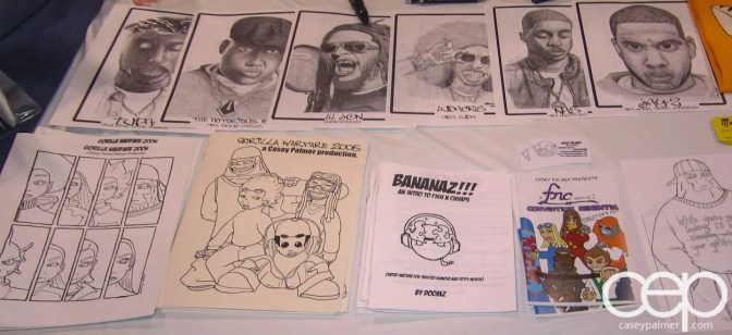 Canadian National Comics Expo 2006 Convention Table