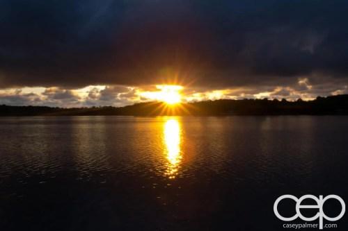 Arran Lake — Sunset