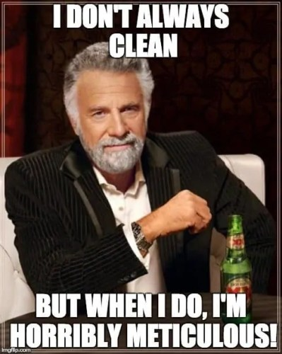 Swiffer Man Clean—Most Interesting Man in the World—Cleaning