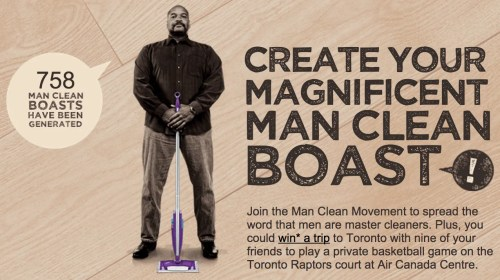 Swiffer Man Clean — ShowYourClean.ca