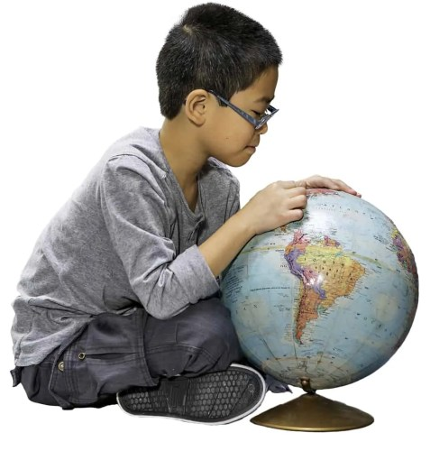 The Ontario College of Teachers—Boy Playing with a Globe