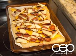 Persimon® Says — Persimon® and Chorizo Pizza — Pizza Out of the Oven