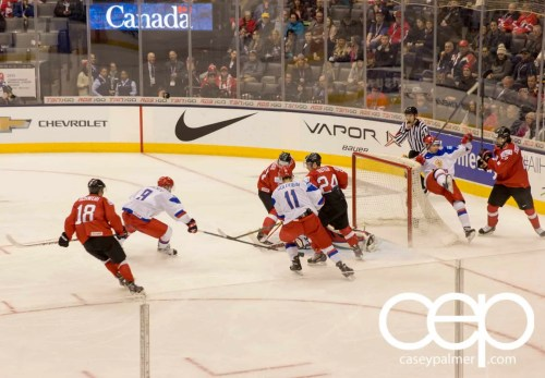 Chevrolet #WJCDrive—2015 IIHF World Junior Championship—Russia vs Switzerland—Russia Shot on Net