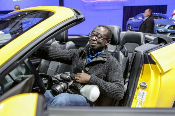 Canadian International Auto Show (CIAS) 2015 — Friday, February 13, 2015 — A Morning With Ford Canada — Casey Palmer in the 2015 Ford Mustang