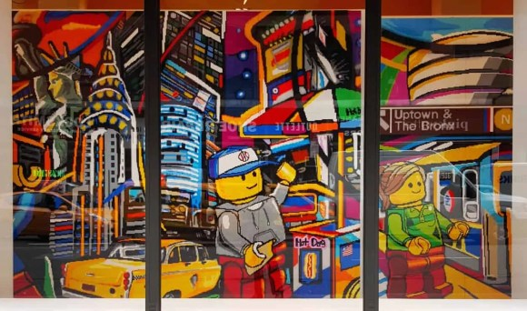 Casey Palmer x Swiffer Present—36 Hours in NYC—5th Avenue Legoland Mural 2