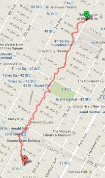 Casey Palmer x Swiffer Present — 36 Hours in NYC — Route — Rush from Sarabeth's Central Park South to The ACE Hotel