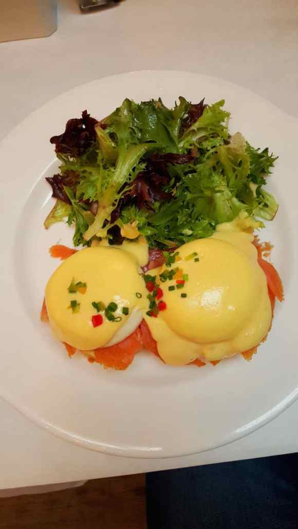 Casey Palmer x Swiffer Present — 36 Hours in NYC — Sarabeth's — Salmon Eggs Benedict