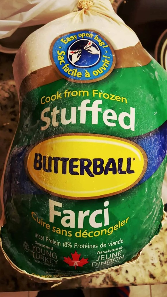 #ButterBallMakesItEasy—Can Butterball Canada Turn Casey From a Kitchen Turkey to a Cooking Whiz—Butterball Stuffed Turkey in its Packaging