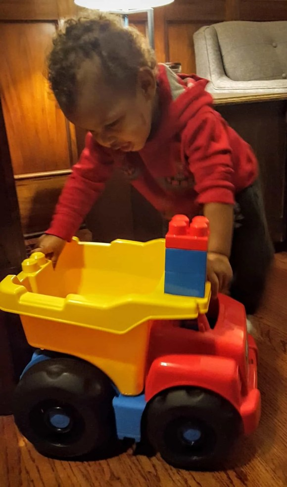 The Week That Was... October 11-17, 2015—Little Man with a HUGE MegaBlocks Truck