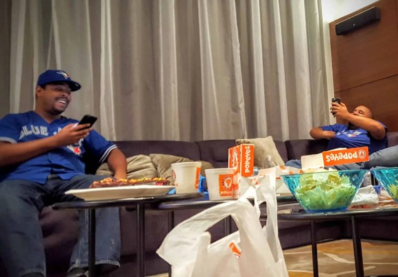 The Week That Was... October 11-17, 2015—Team Trolling Does a Lazy Friday—Marcel and Justin Sharing a Laugh