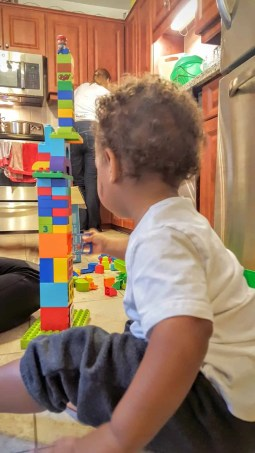 The Week That Was... October 4-10, 2015—Little Man Playing with Duplo Blocks