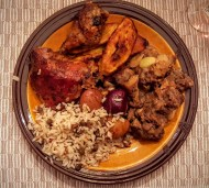 The Week That Was... November 15th - 21st, 2015 — Dinner at the Palmer Parents (Ox Tail, Chicken, Plaintains, Rice and Peas)