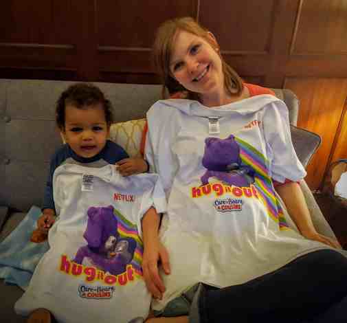 The Week That Was... November 15th - 21st, 2015 — Netflix Care Bears and Cousins — Sarah and Little Man with their Custom Care Bears and Cousins T-Shirts
