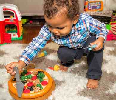 The Week That Was... November 1st - 7th, 2015 — Little Man's Second Birthday — Playing With Some Toy Pizza