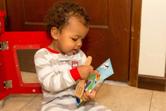 The Week That Was... November 8th - 14th, 2015 — Little Man Reads His Birthday Card from Mom and Dad