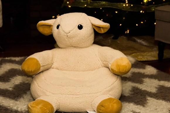 A Case Cringle Christmas, Day 2 — My Toddler, Me and a Little Cloud b! — The Cuddy Comfeez Sleep Sheep Chair in Casa de Palmer