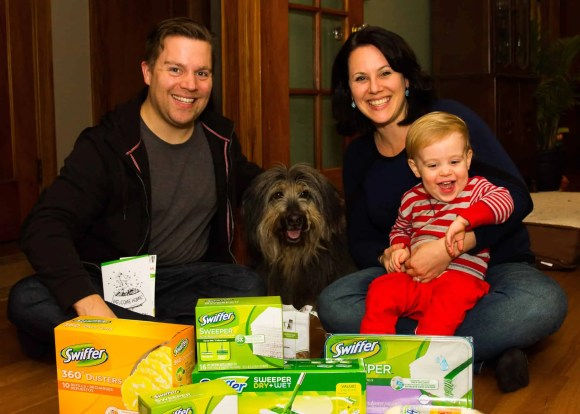 Life as a Swiffer Fanatic, Vol. 2—Fighting Messes from Other People's Pooches... Because #ShedHappens—Mike, Sydney, Jenn and Henry
