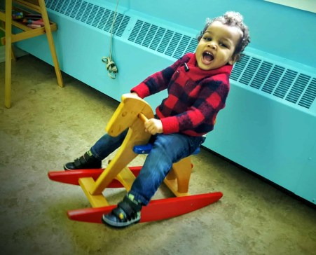 The Month That Was... November 22nd - December 26th, 2015 — Christmas Day Church — Little Man on the Rocking Horse