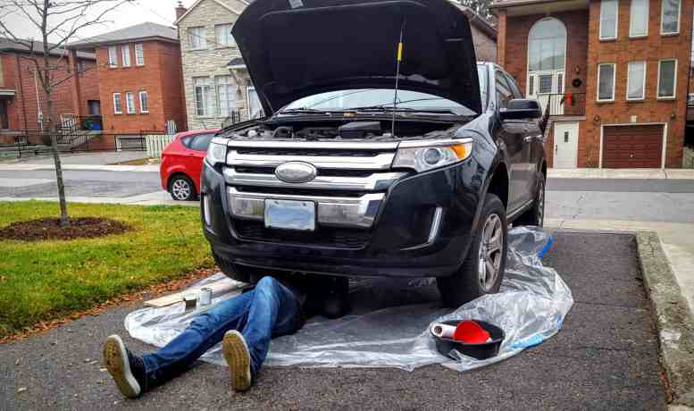 Quaker State's Quest to Build a Better Grown-Up! — Casey Palmer Under His 2011 Ford Edge