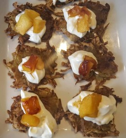 The Cookina Parchminum — The Mouthful Making it Easier to Make Stuff for Your Mouth — Potato Latkes with Caramelized Apple and Crème Fraîche