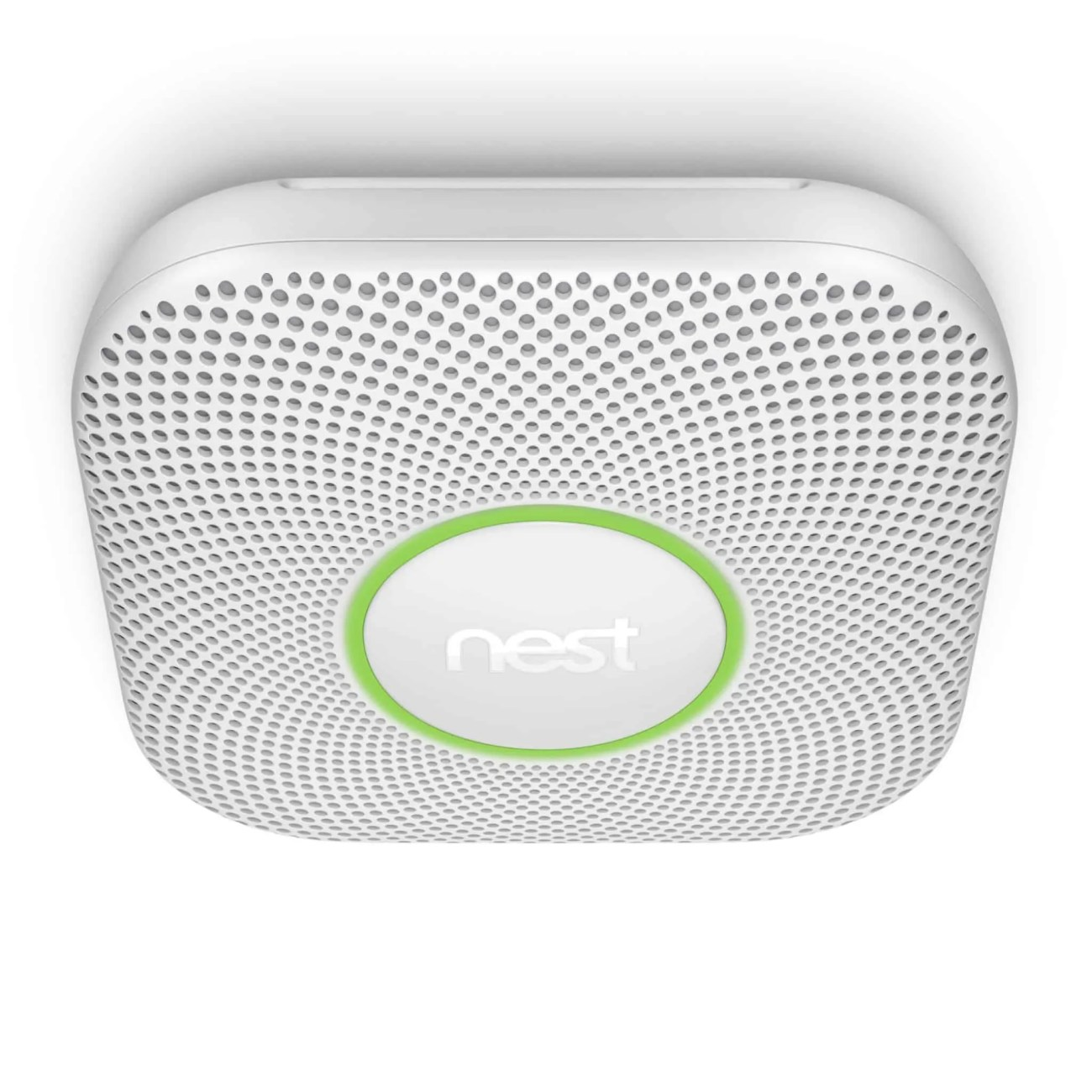 Building a Smarter Home with TELUS, Part One — The Things You Detect with a Nest Protect — Nest Protect White Mounted on Ceiling