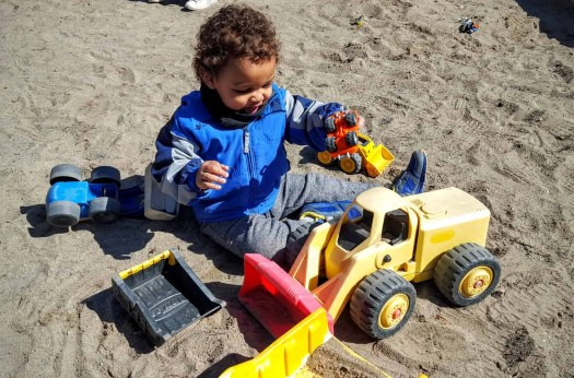 Drive Your Way to Delight at isure.ca! — Little Ma Playing with Construction Vehicles at the Park