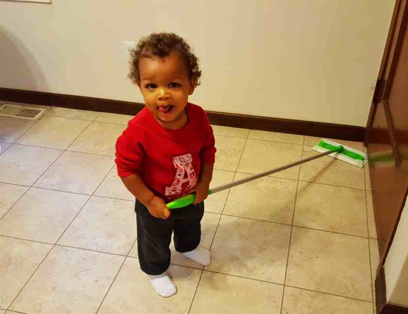 """Saying """"Yes"""" to the Mess — How Swiffer Helps with the Hot Mess of Parenting — Little Man Loves to Clean with Swiffer"""