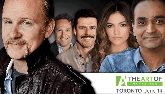 The Art of Marketing Toronto 2016 — What's Left to Learn at The Art of Marketing — Speakers' Images (Morgan Spurlock, Stephen Shapiro, Adam Garone, Bethany Mota, Avinash Kaushik)