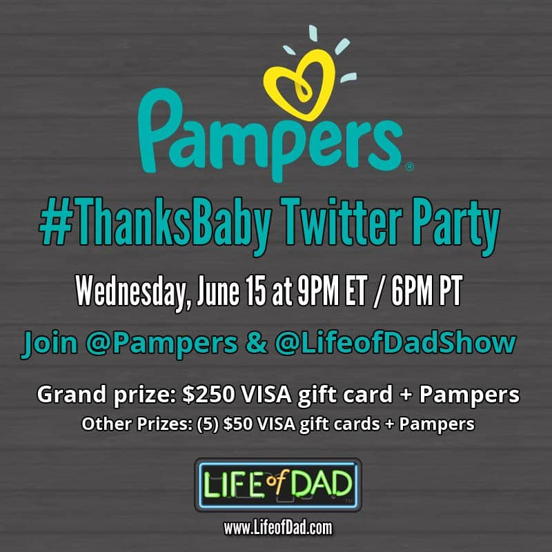 Join Me at the Pampers ThanksBaby Twitter Party for Father's Day! — Twitter Party Ad