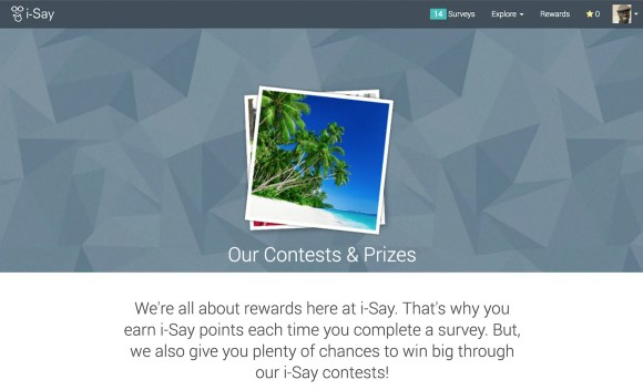 A Penny for Your Thoughts—Get Rewarded for Your Opinions with Ipsos i-Say!—Our Contests and Prizes