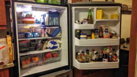 Gettin' it in with GLAD — The Refrigerator Makeover You Didn't Know You Needed! — A Refrigerator in Dire Need of a Makeover