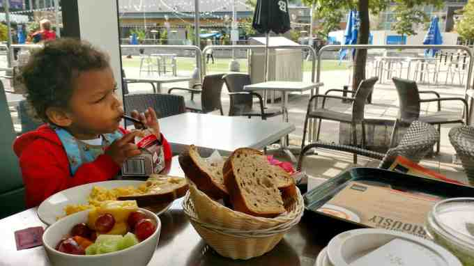 An Aroma Kidz Adventure — Why I Can't Take My Kidz ANYWHERE. — The Palmer Toddler Contemplating His Chocolate Milk