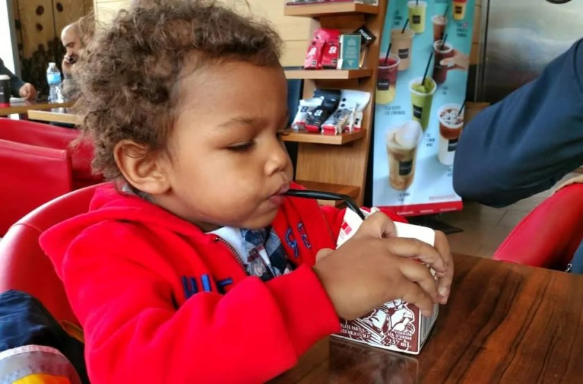 An Aroma Kidz Adventure — Why I Can't Take My Kidz ANYWHERE. — The Palmer Toddler With His Milk