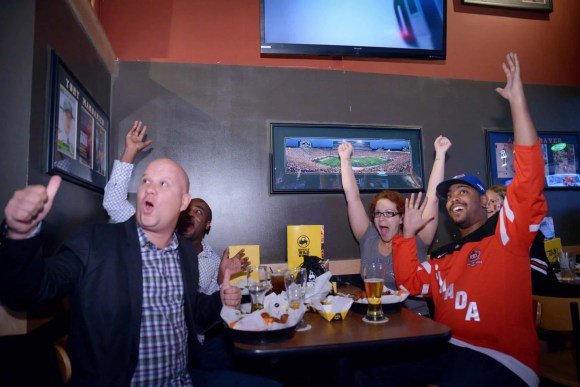 The Fastest Game on Earth Brought to You by Buffalo Wild Wings!—World Cup of Hockey at Buffalo Wild Wings—Adrian, Chris, Marcel and Marie