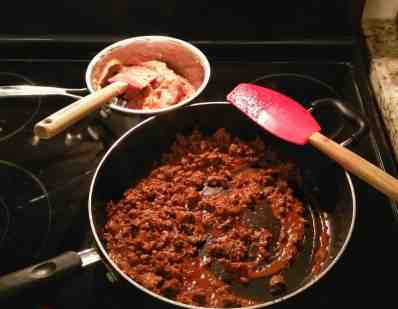 Old El Paso Let's Taco 'Bout It, Chapter Three — Double the Delicious with Double Layer Tacos! — Preparing the Ground Beef and the Refried Beans