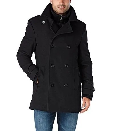 Make Your Mark on Fashion this Winter — The Mark's Christmas 2016 Gift Guide — DH3 HYPER-DRI HD1 Water-Repellant Double Breasted Coat With Fooler