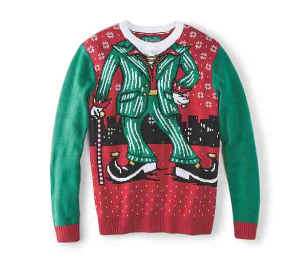 Make Your Mark on Fashion this Winter — The Mark's Christmas 2016 Gift Guide — Denver Hayes Dancing Elf Light Up Christmas Sweater