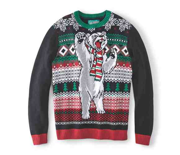 Make Your Mark on Fashion this Winter — The Mark's Christmas 2016 Gift Guide — Denver Hayes Polar Bear Light Up Ugly Christmas Sweater