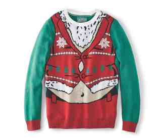 Make Your Mark on Fashion this Winter — The Mark's Christmas 2016 Gift Guide — Denver Hayes Santa Torso Ugly Christmas Sweater