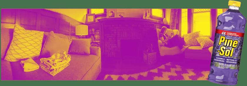 Purifying Casa de Palmer with the Power of Pine-Sol® — Casa De Palmer's Living Room v2