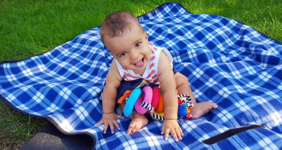 Scoring the Best Gifts Thanks to the Best Buy Blue Shirts! — Baby Palmer Playing in the Grass