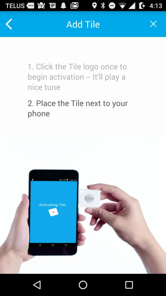Tile Mate — Helping You Keep Your Stuff BY YOUR SIDE. — Tile App — Add Tile — Step 2