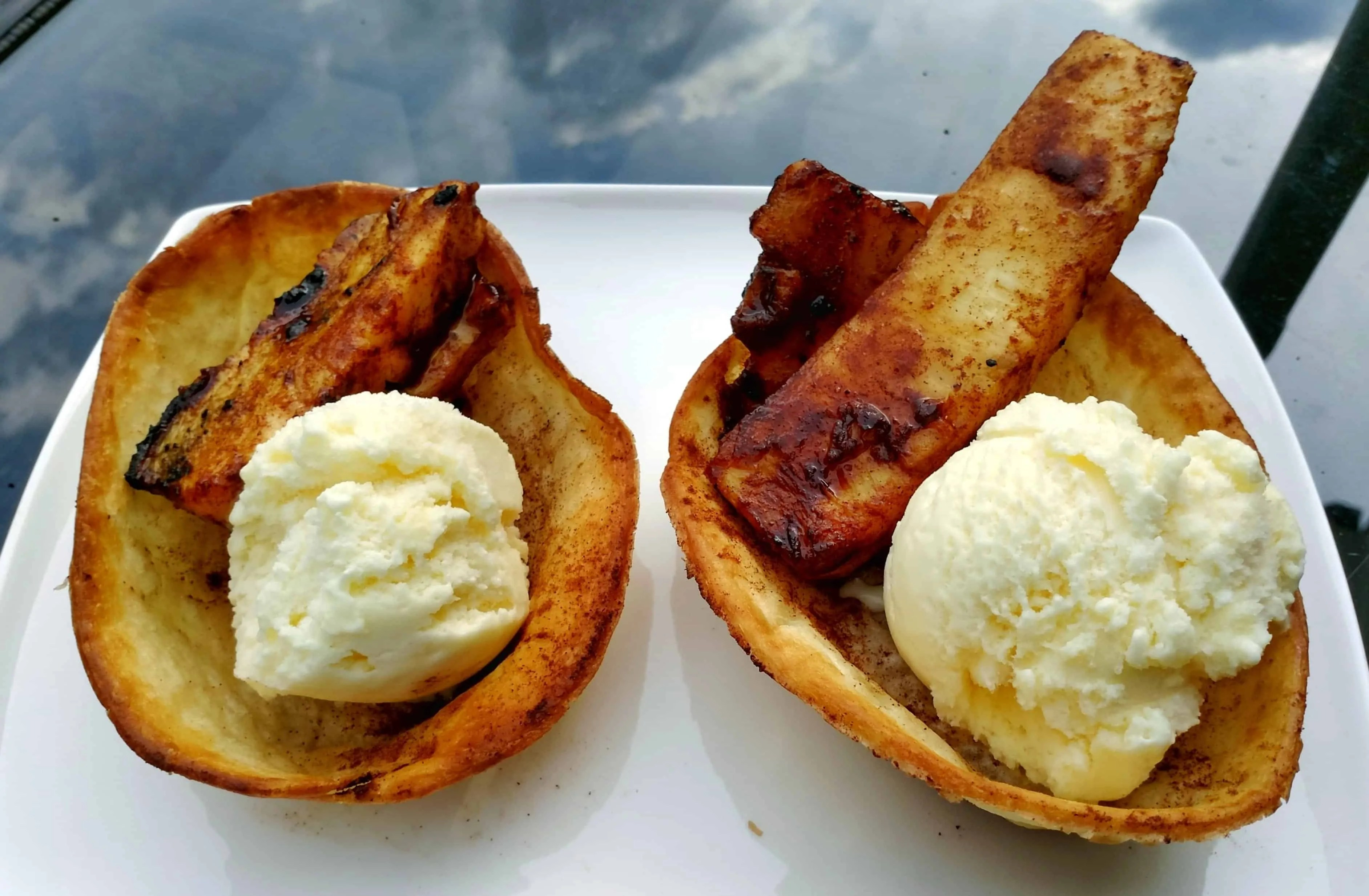 Old El Paso Let's Taco 'Bout It, Chapter Five — Of Sweet Treats, Toddlers and Tortilla Bowls. — Cinnamon Sugar Tortilla Bowls and Grilled Pineapple Sundaes