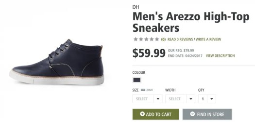 Kick Footwear Fails to the Curb with Mark's Spring Shoe Collection! — DH Men's Arezzo High-Top Sneakers